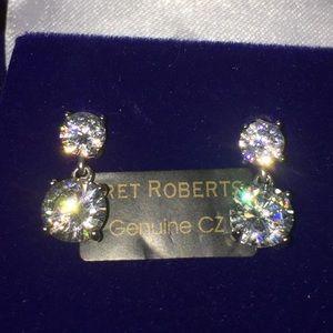 NIB Bret Roberts CZ Faux Diamond Bridal  Earrings
